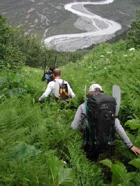 Descending into the Placer River Drainage