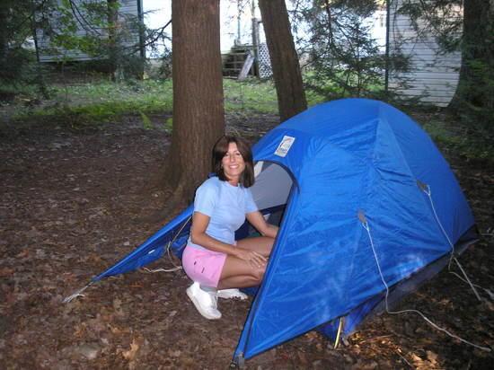 Cheryl at Tent