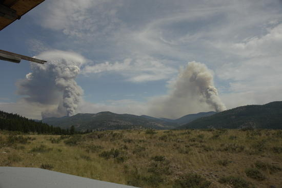 tripod and spur peak fires