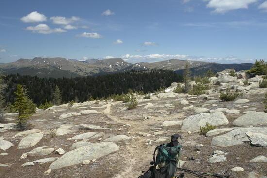 Horseshoe basin from near windy peak, plus my ULA P-1