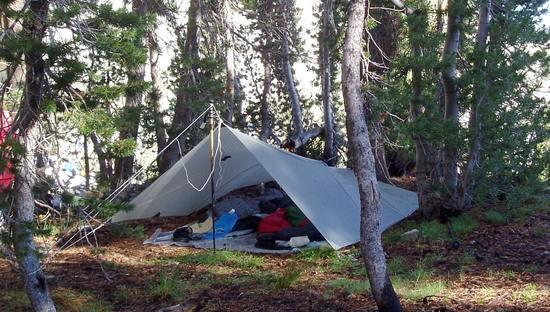 Tarp at Vogelsang in Yosemite