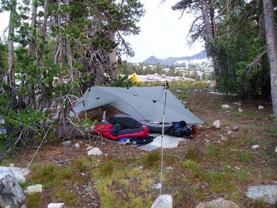 First camp with swirling winds and poor drainage