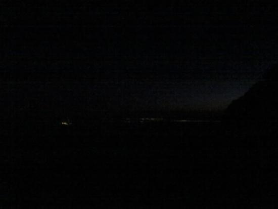 The lights of Lake Stevens (left) and Everett (right).