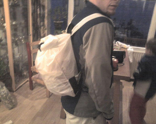 carrying backpack