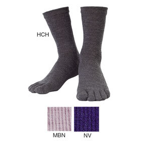 montbell 5 toed wool travel sock. a good base layer