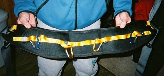 Harness - pack belt with daisy chain rivited