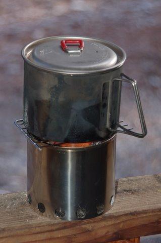 BPL Firelite esbit stove MSR kettle and Bushbuddy