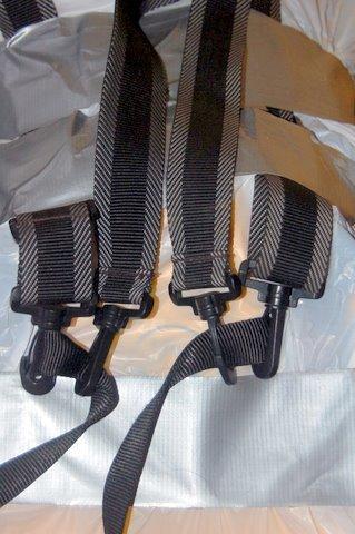 Garbage bag pack and tote bag straps, belt