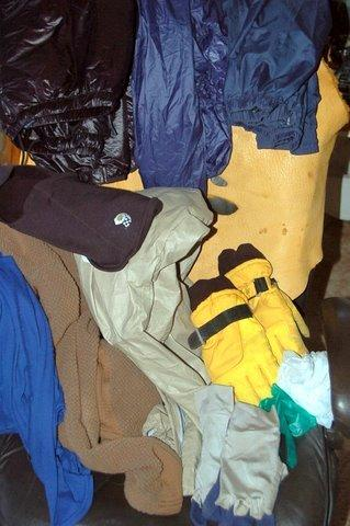 Garbage bag pack gear contents