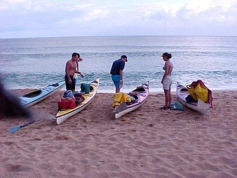 Kayak beach Kauai