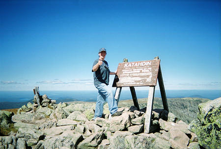 my glory day - summiting Mt. Katahdin (disregard jeans, please)