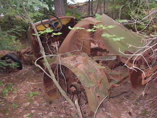 Old logging vehicle