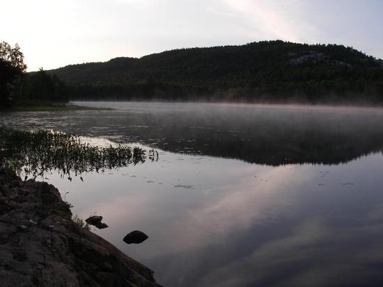 sun rise Murray lake