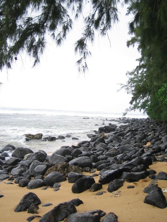 typical beach, rocks, uh yeah!