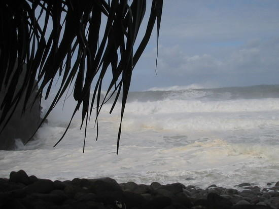 typical rough surf
