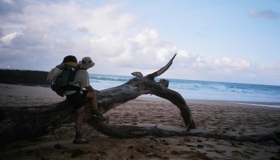 beach hiking