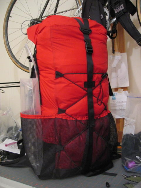 Smaller summer pack with mesh pockets