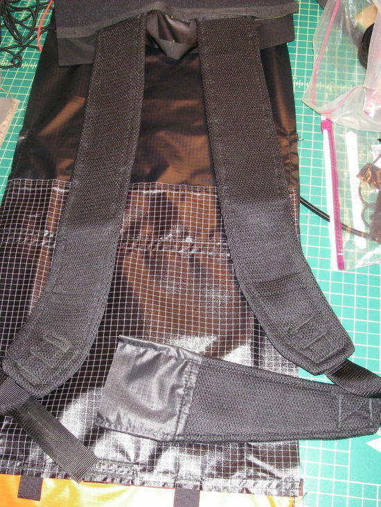 3-D straps with padding on daypack