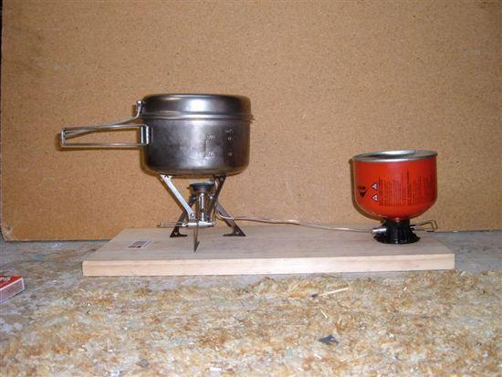 100g stove in use