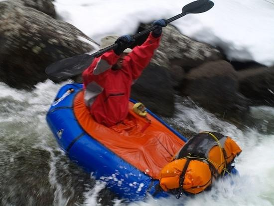 Ryan Jordan packrafting, Wind River Range, WY