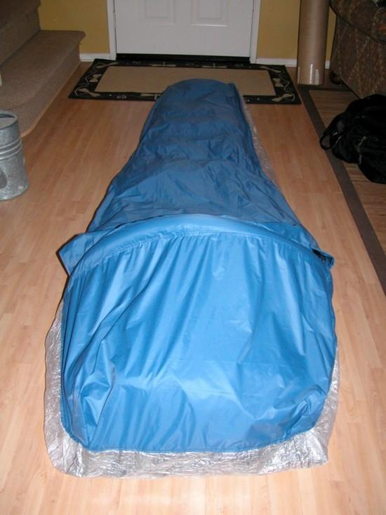 End view of new bivy