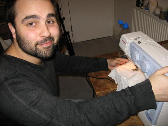 This is me, beginning to learn sewing, largely inspired by this site: