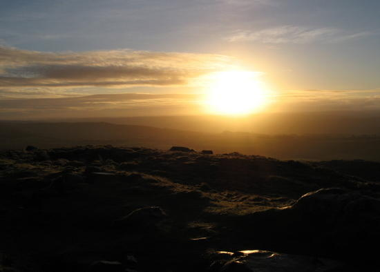 dawn after a winter bivvy in the northern England