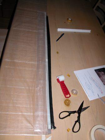 Installing the zipper