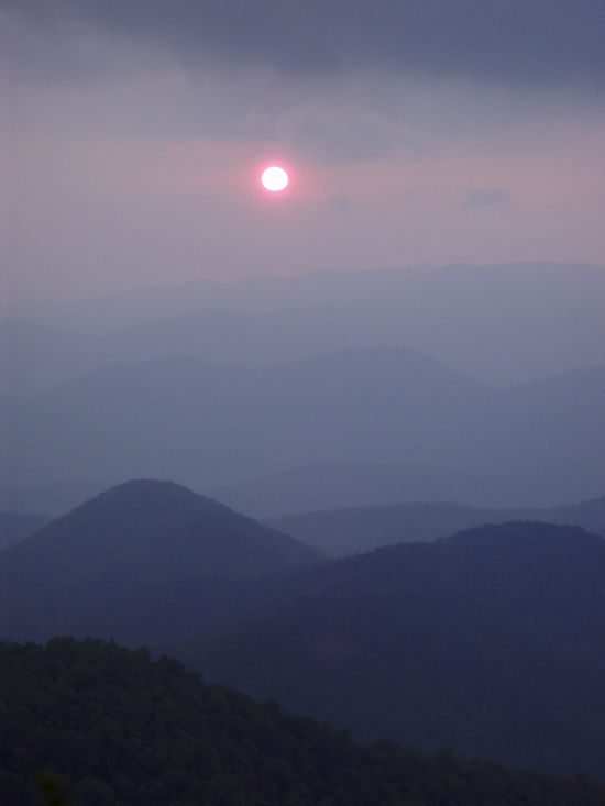 sunset from Cheoah Bald in North Carolina