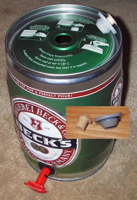 Becks 5L keg