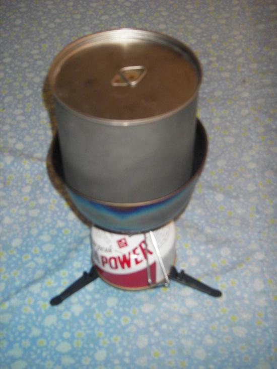 SnowPeak Giga-Power Stove with FireLite SUL-1100 Pot