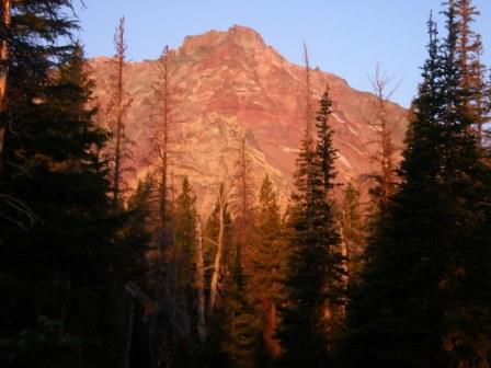 Alpenglow on North Sister