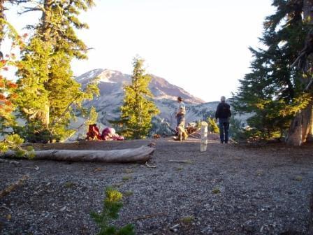 Camp at Morraine Lake