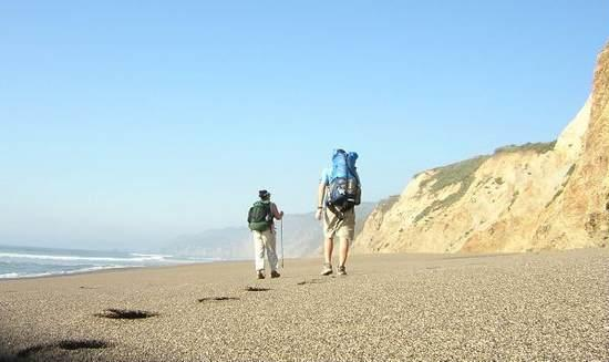 Beach walk from Alamere Falls to Wildcat Camp.