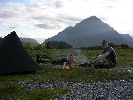 Wild camp with Buachaille Etive Mor