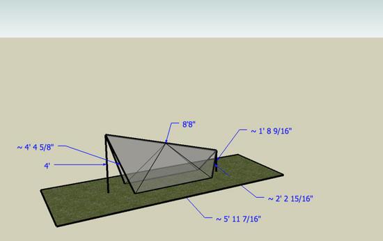 Tent design w/measurements