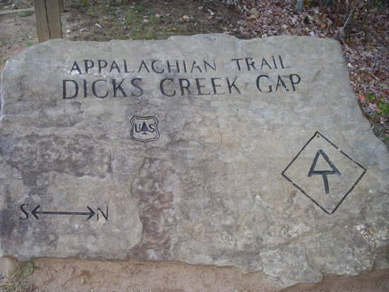 Marker at Dick's Creek Gap