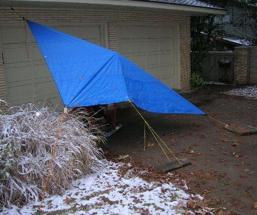 Tarp pitch for the generator