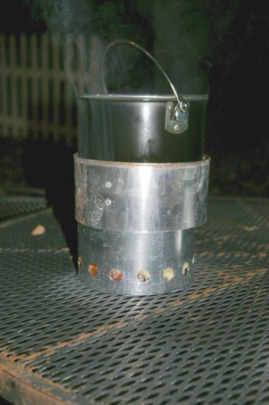 my insulated wood burning camp stove.