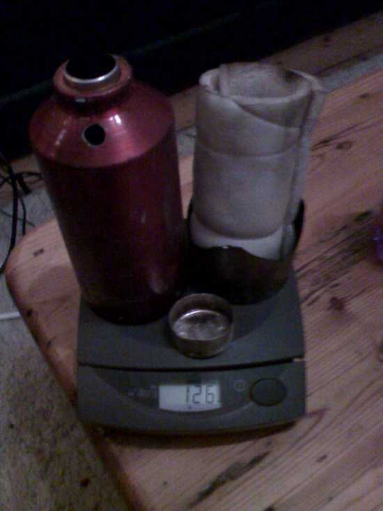 Kettle, stand, tealight pot and insulation. 126g total