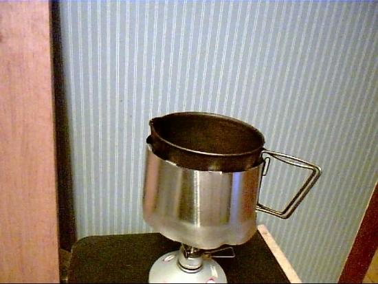 wind screen around pot