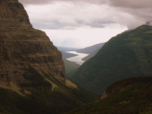 Glacier National Park view of Bowman Lake