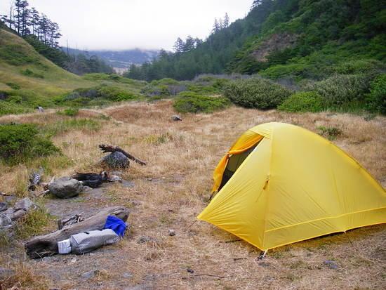 Evolution 2P on the Lost Coast, in the rain.