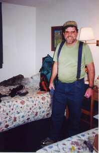 JohnO preparing for a hike