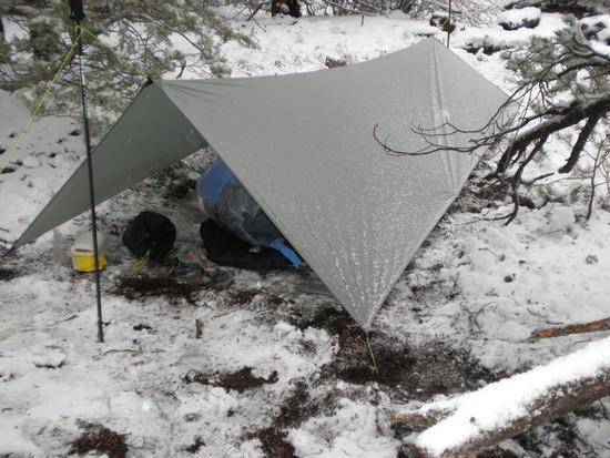snowy tarp
