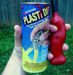Plasti-Dip (TM) and coated Trekking pole handle