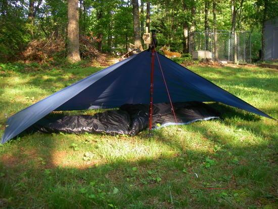 7.8 ounce polyester ripstop solo tarp