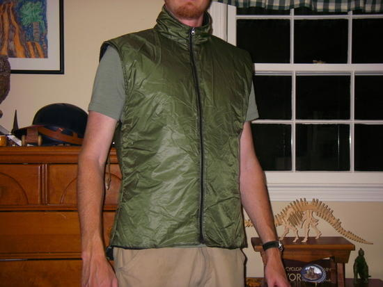 Insulated vest from Minima Vest kit.