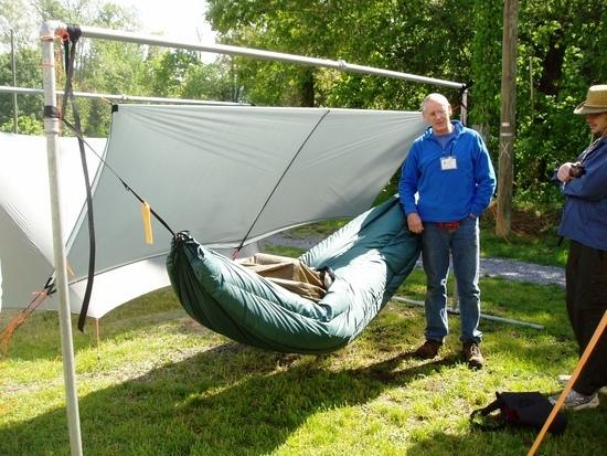 Ed Speers with his hammock & Pea Pod...another really nice guy!