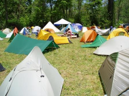 Tent City at Trail Days in Damascus, VA